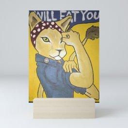 I Will Eat You! Mini Art Print