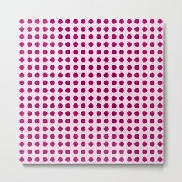 Happy Place Large Polka Dots in Pink Metal Print