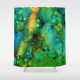 Green Smoke Shower Curtain