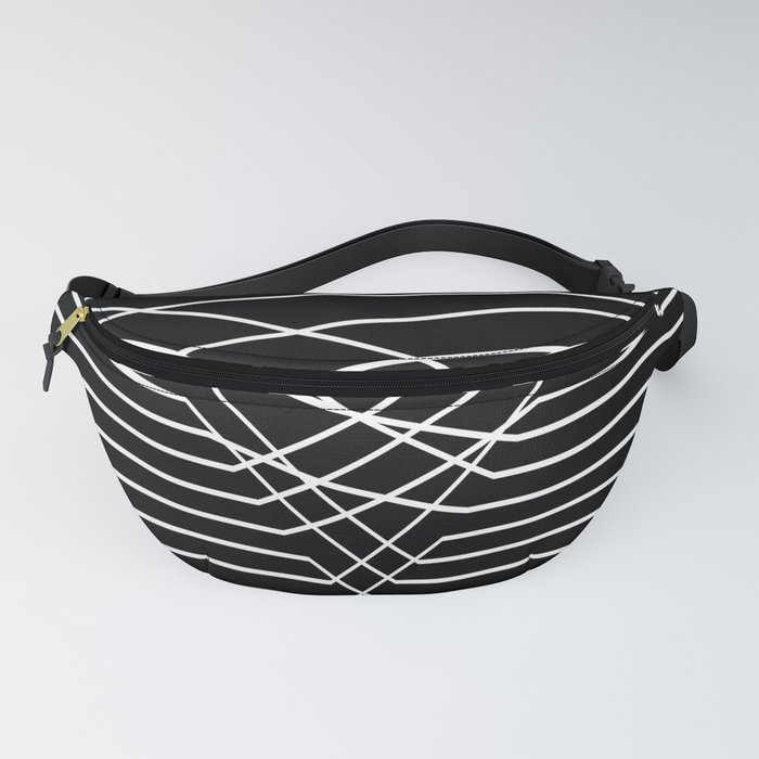 Line Complex Dark Triangle Fanny Pack