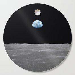 Earth rise over the Moon Cutting Board