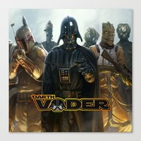 darth vader Canvas Prints featuring Darth Vader by store2u