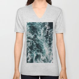 Green Seas, Yes Please Unisex V-Neck