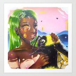 Honeycomb Dreams Art Print