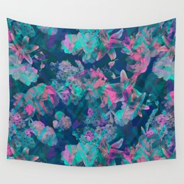 Geometric Floral Wall Tapestry