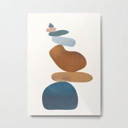 Balancing Stones 30 Metal Print