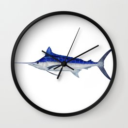 Pacific Blue Marlin Wall Clock