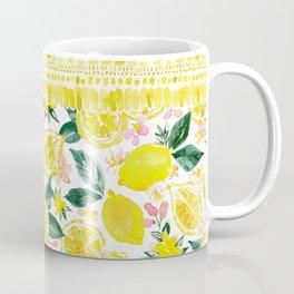 LEMONIZER Yellow Lemons Coffee Mug