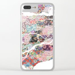 Vancouver map Canada Clear iPhone Case