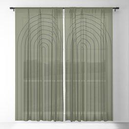 Minimalist Arch XII Sheer Curtain