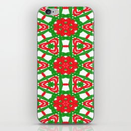 Red, Green and White Kaleidoscope 3372 iPhone Skin
