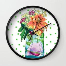 Summer in a Jar Wall Clock