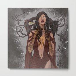 Goddess Morrigan Metal Print
