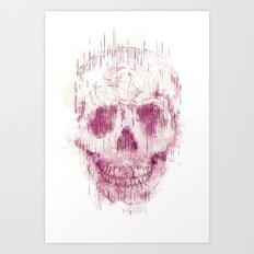 skeleton head Art Print