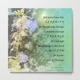 Serenity Prayer Campanula Metal Print