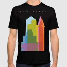 Shapes of San Diego Black Mens Fitted Tee MEDIUM