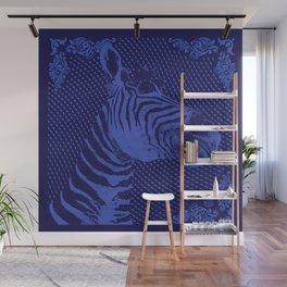 Zebra on bandana Wall Mural