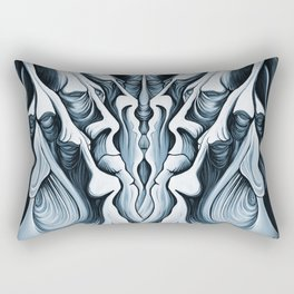 Mountain Faces Rectangular Pillow