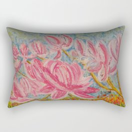 Japanese Pink Magnolia in the Lowcountry Rectangular Pillow