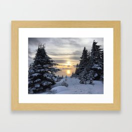Eagle Bluffs sunset Framed Art Print