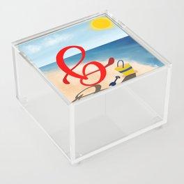 Baby B at the Beach Acrylic Box