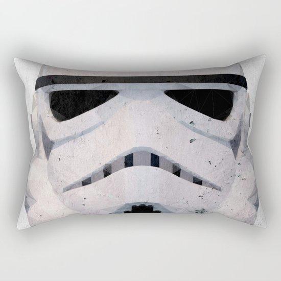 Stormtrooper Low Poly Rectangular Pillow
