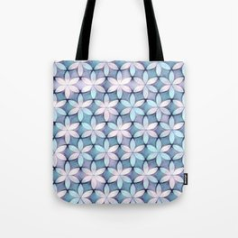 Daisies Aqua White Tote Bag