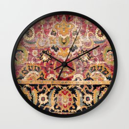 Esfahan Central Persian 17th Century Fragment Print Wall Clock
