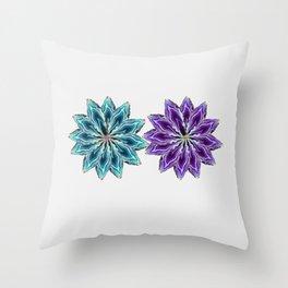 Agate flower spokes (two wheels) Throw Pillow