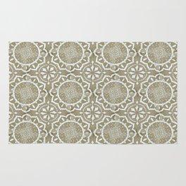 Flower block print Rug