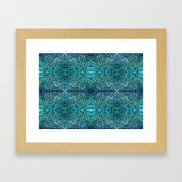 Blue Sands of the Sea Framed Art Print