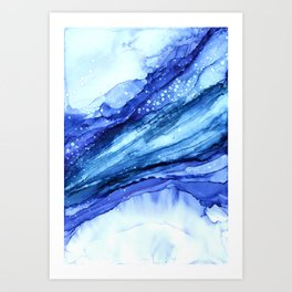 Cracked Blue Marble Art Print