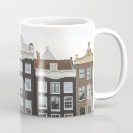 The Famous Row Of Amsterdam Photo | Historical Houses By The Canal Art Print | Dutch Travel Photography Coffee Mug