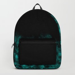 Turquoise Watercolor Paint Print Backpack