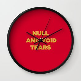 Null And Void Wall Clock