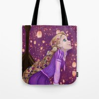 lanterns Tote Bags featuring Lanterns by Kimberly Castello