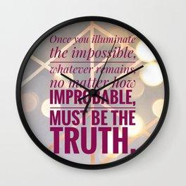 illuminate the impossible Wall Clock