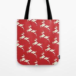 Pretty Christmas Reindeer Tote Bag