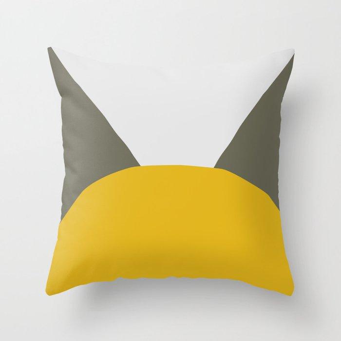 Deyoung Yellow Throw Pillow