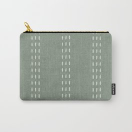 boho vertical stitch - sage Carry-All Pouch