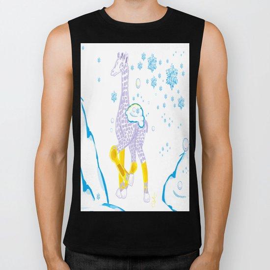 Winter is Coming - Midas is Ready - Christmas Lavender Giraffe Biker Tank