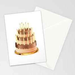 Big chocolate cake Stationery Cards