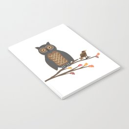 Owl and Friend Doodle Notebook