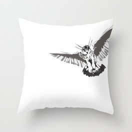 Owl of the Pheonix White Throw Pillow