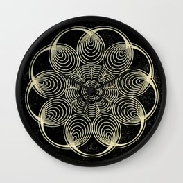 Antique Spiral Geometry Wall Clock
