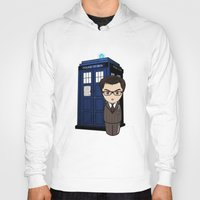 dr who Hoodies featuring Kokeshi Dr. Who by Pendientera