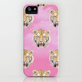 TIGER PINK PATTERN iPhone Case