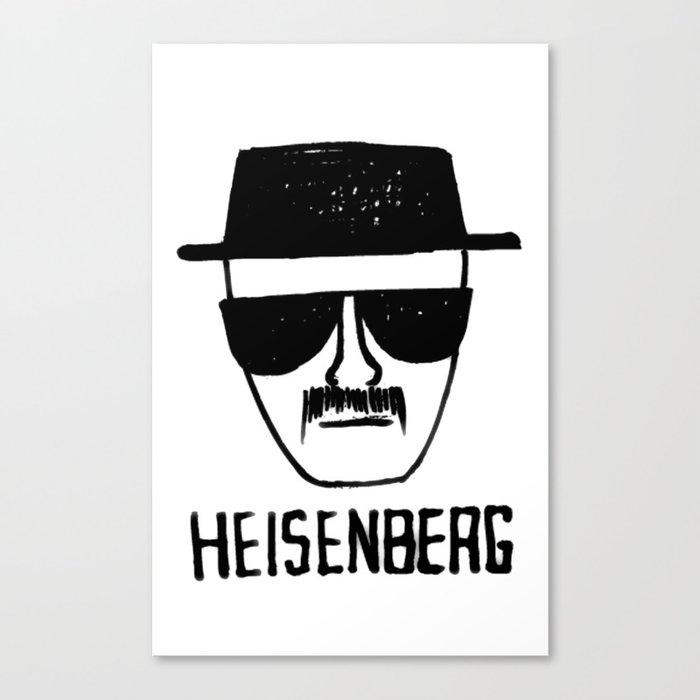 Heisenberg - Breaking Bad Sketch Canvas Print