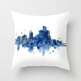 Going Downtown: Detroit Throw Pillow