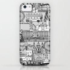 London toile black white iPhone 5c Slim Case